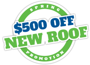 $500 Off New Roof Logo